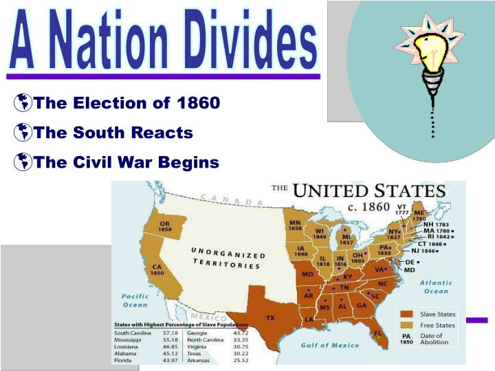 an analysis of the civil war splitting our nation