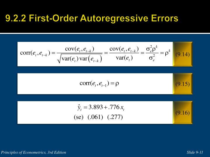 9.2.2 First-Order Autoregressive Errors