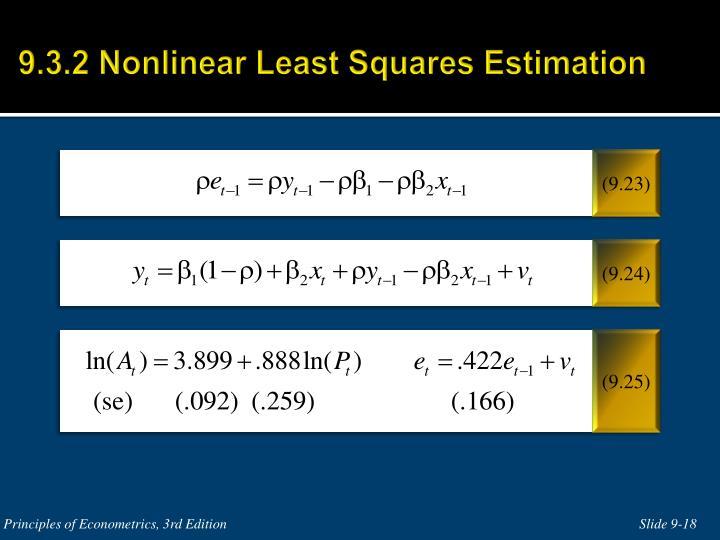 9.3.2 Nonlinear Least Squares Estimation