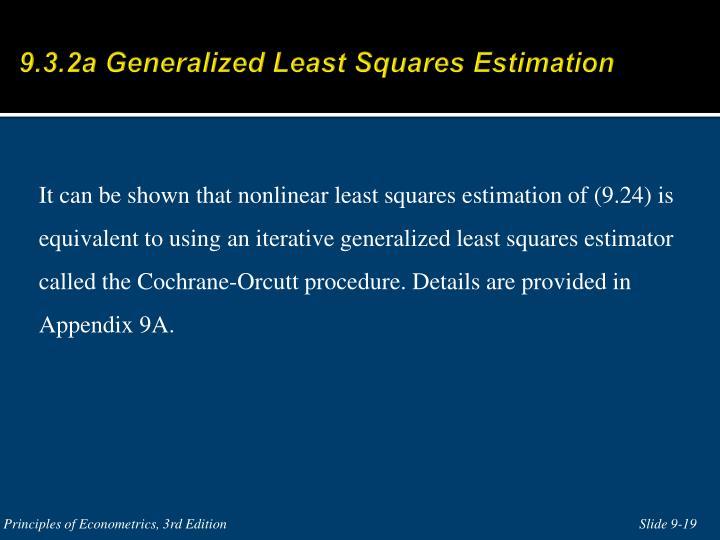 9.3.2a Generalized Least Squares Estimation