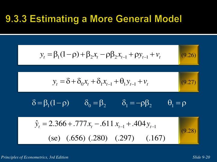 9.3.3 Estimating a More General Model