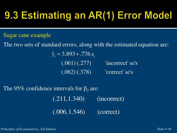 9.3 Estimating an AR(1) Error Model