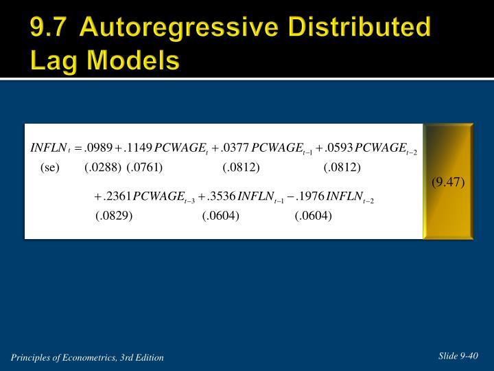9.7Autoregressive Distributed Lag Models