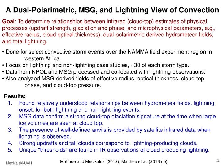 A Dual-Polarimetric, MSG, and Lightning View of Convection