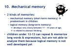 10 mechanical memory
