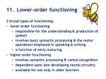 11 lower order functioning