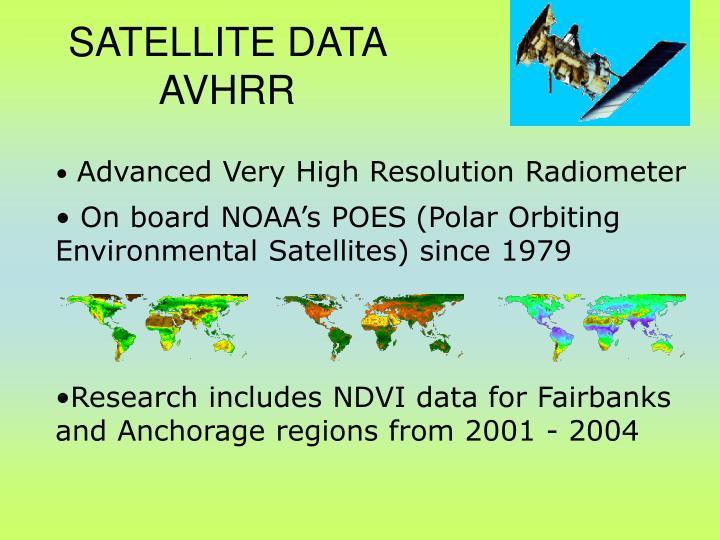 SATELLITE DATA  AVHRR