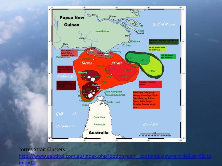 Torres Strait Clusters