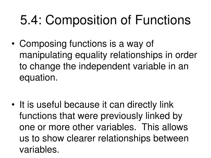 5.4: Composition of Functions