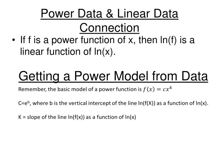 Power data linear data connection
