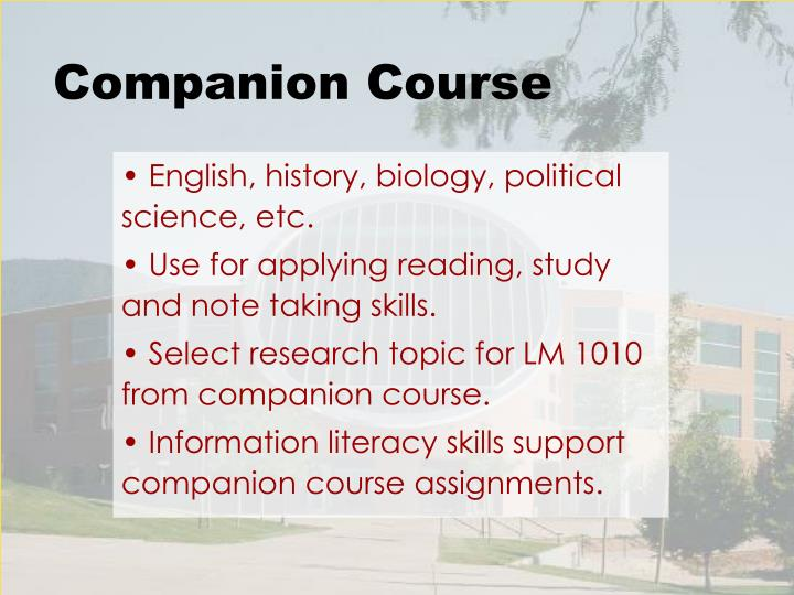 Companion Course