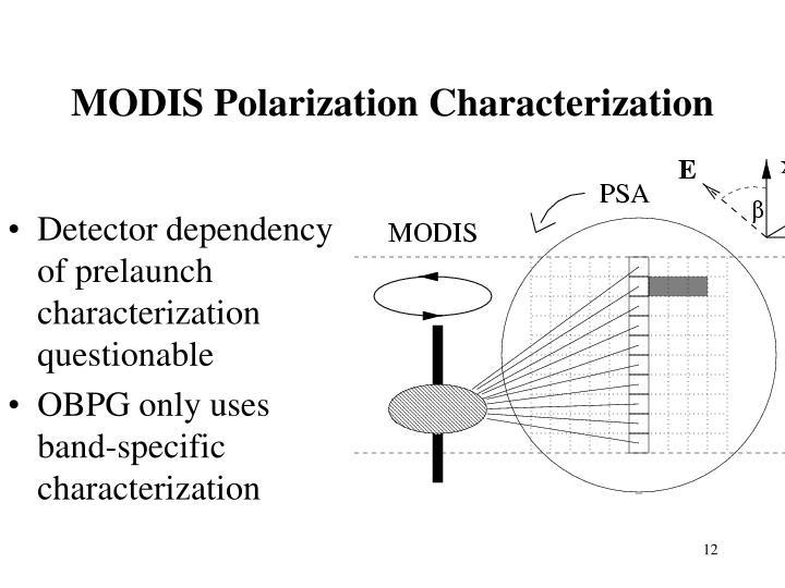 MODIS Polarization Characterization