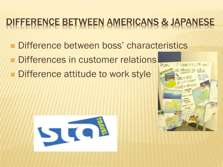 Difference between boss' characteristics