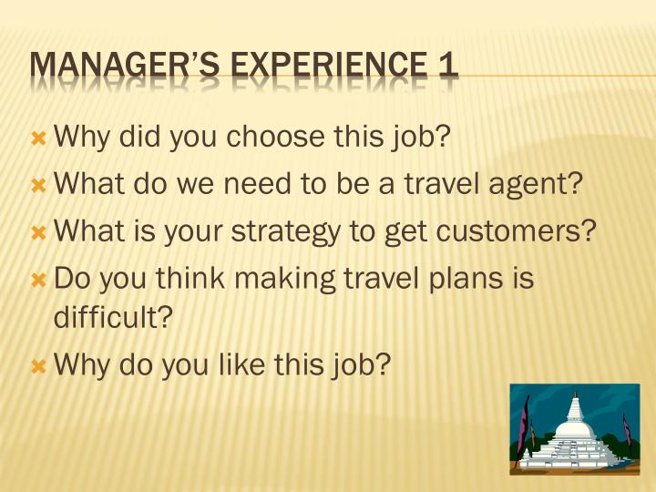 Manager s experience 1