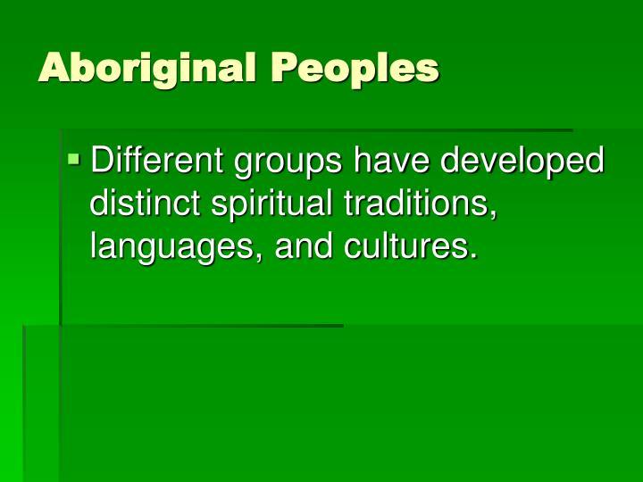 Aboriginal Peoples