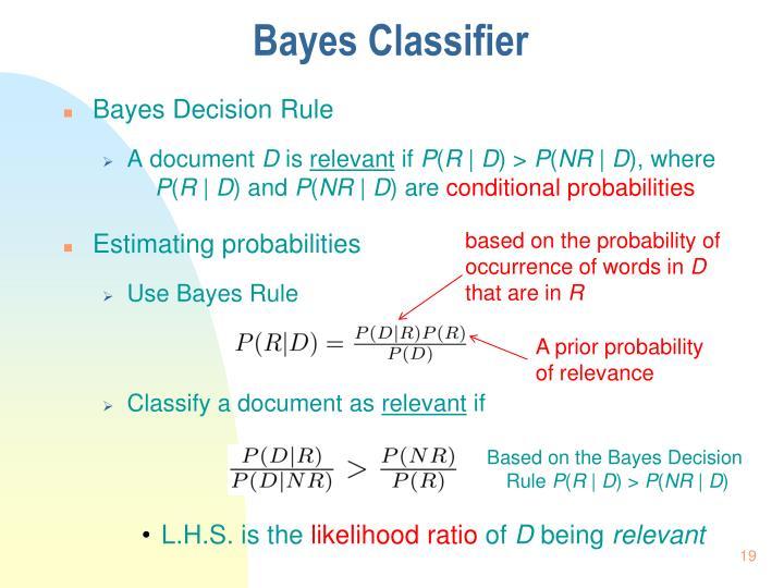 Bayes Classifier