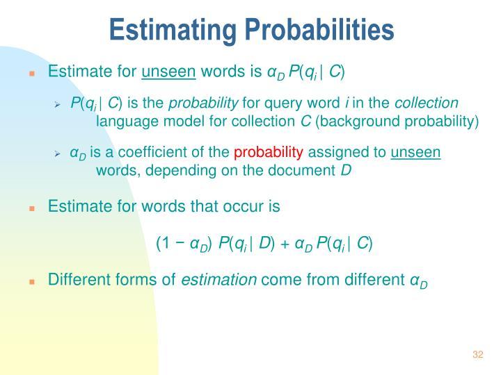 Estimating Probabilities