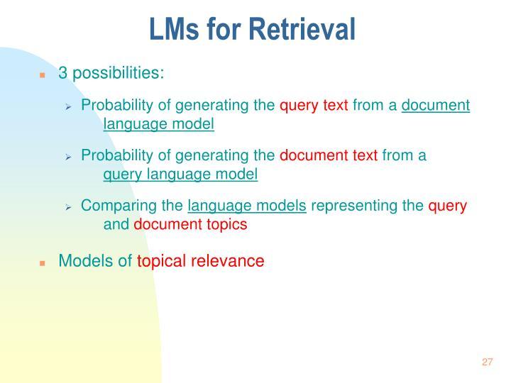 LMs for Retrieval