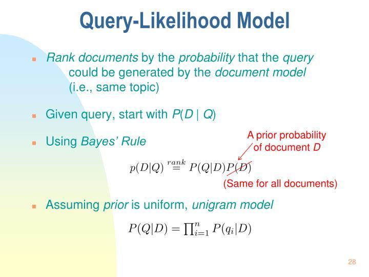 Query-Likelihood Model