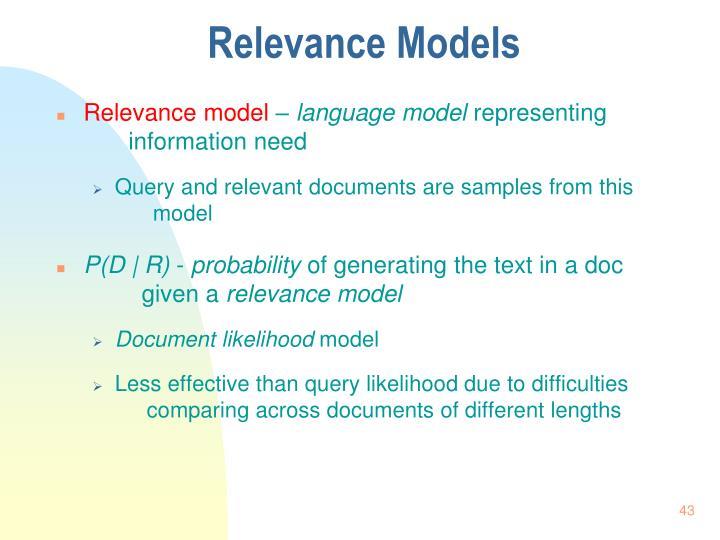 Relevance Models