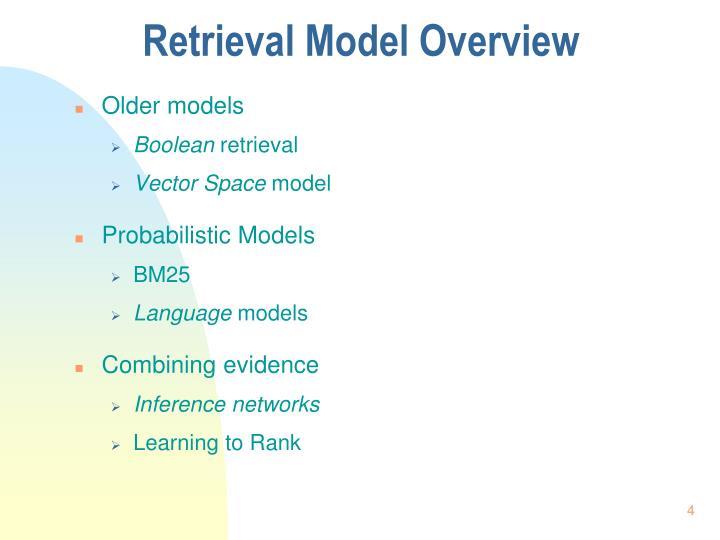 Retrieval Model Overview