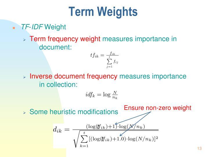 Term Weights