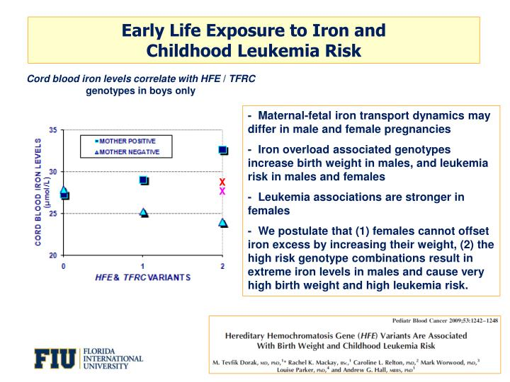 Early Life Exposure to Iron and