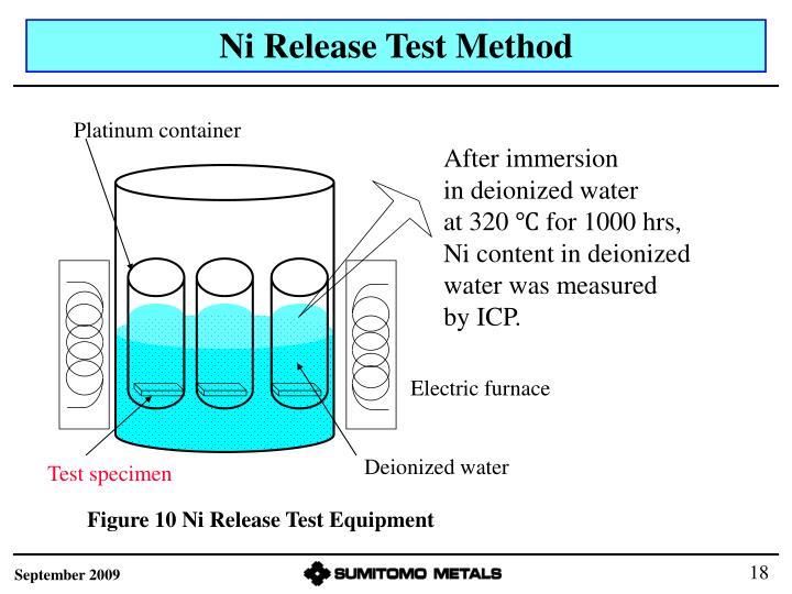 Ni Release Test Method