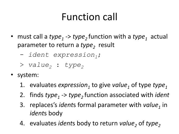 Function call