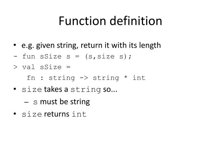 Function definition