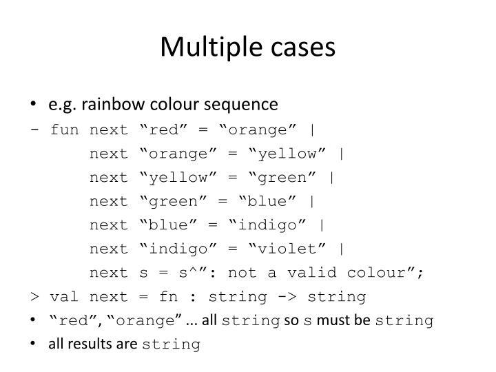 Multiple cases