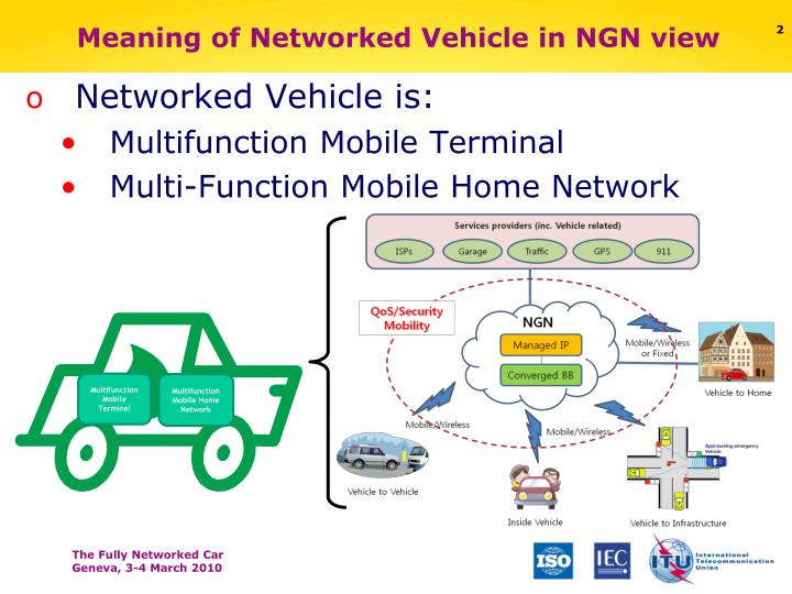 Meaning of networked vehicle in ngn view