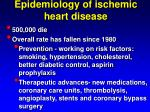 epidemiology of ischemic heart disease