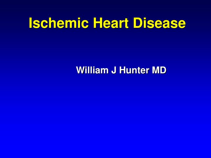 ischemic heart disease n.