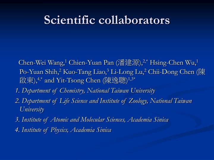 Scientific collaborators
