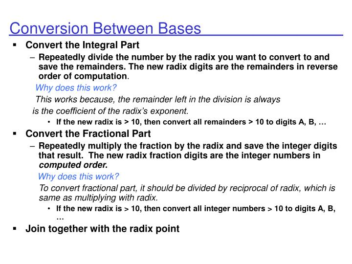 Conversion Between Bases