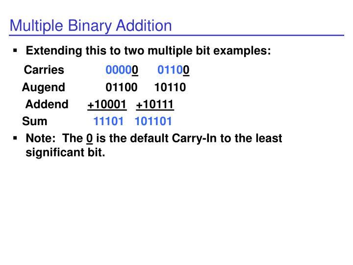 Multiple Binary Addition