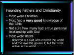 founding fathers and christianity