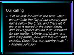 our calling3