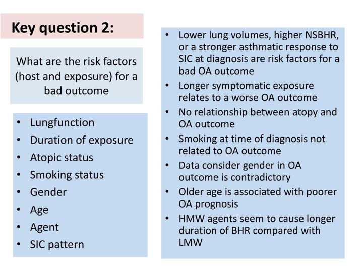 What are the risk factors (host and exposure) for a bad outcome