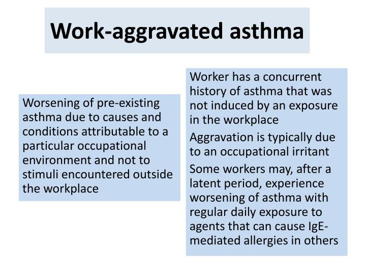 Work-aggravated asthma