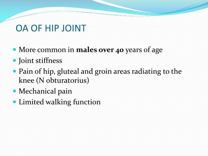 OA OF HIP JOINT