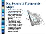 key feature of topographic maps