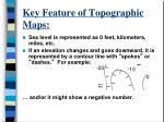 key feature of topographic maps1