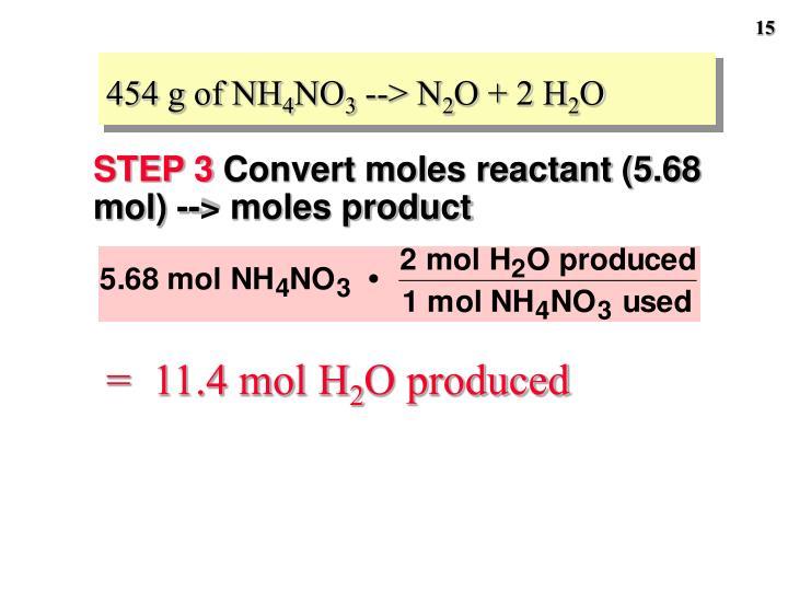 454 g of NH