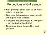 perceptions of gm salmon