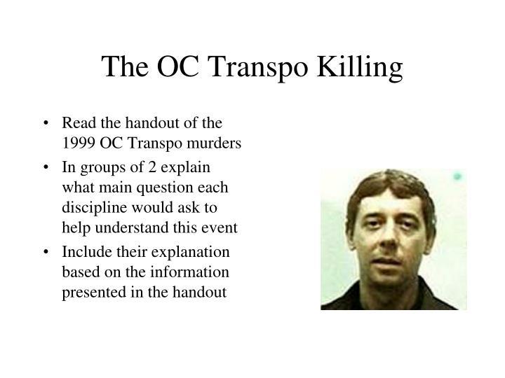 The OC Transpo Killing