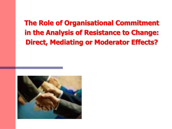 an analysis of the features of organization commitment