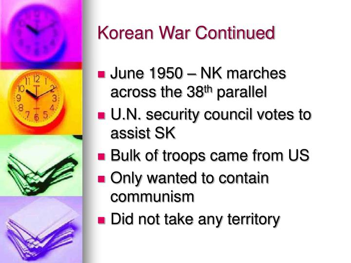 Korean War Continued