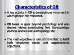 characteristics of ob1